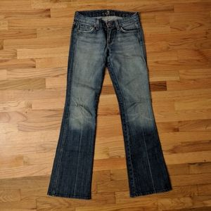 7 for All Mankind Jeans A Pocket Carribean Crystal